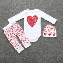 $enCountryForm.capitalKeyWord Canada - INS Newborn Suits 3PCS Romper Pants Hat Headband 1#-22# Love Heart Letter Print Animal Cute Infant Baby Outfits Girl Boy Kid Clothes Sets BM