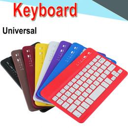 Thin mini lapTop online shopping - Bluetooth Keyboard inch Universal Ultra thin mini long lasting battery Bluetooth keyboard for PC iPad Laptop Android IOS Tablet EXPT