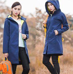 Ladies softsheLL jacket online shopping - 2018 new Women Outdoor Sports Long Jackets Keep Warm Autumn Winter Windproof Waterproof Hikking Ladies Girls Warm Softshell U N Plush Size