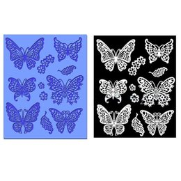lace silicone mold mould fondant 2019 - 1 pc Small Butterfly Silicone Lace Mold Fondant Molds Cake Decorating Tools Chocolate Gumpaste Moulds Bakeware YB200281
