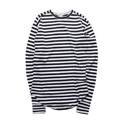 $enCountryForm.capitalKeyWord UK - Mens Long Slleeves Tshirts Black And Pink Colour Winter Autumn Striped clothes Mens Loose Fit Tops