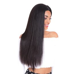 cheap human hair lace fronts UK - 100% Unprocessed Malaysian Lace Front Human Hair Wigs For Black Women Cheap Silky Straight 360 Lace Frontal Wigs Pre Plucked With Baby Hair