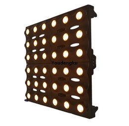 China new products background lighting golden 36x3w Amber Led blinder beam light 6x6 led gold matrix light cheap sound light matrix suppliers