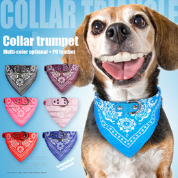 cat collar cute Australia - Cute Fashion Pet Dog Scarf Collar adjustable dog headdress high quality pet cat colla