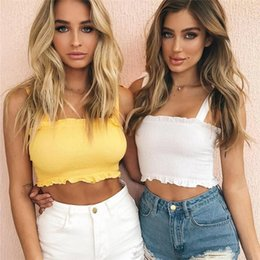 63d24f0ea7f5c 2018 Sexy Summer Solid Bodycon Off Shoulder Tops Sexy Ruched Pleated  Bandage Push Up Women Tank Crop Top Cropped Feminino FS3277
