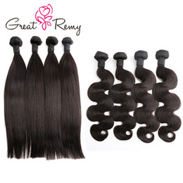 $enCountryForm.capitalKeyWord Canada - Greatremy® 4pcs lot Wholesale 100 Human Hair Bundles Natural Black Straight Body Wave Deep Curly Hair Weave 8-24inch 7A Donor Hair 2019Deals