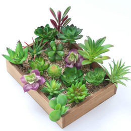 $enCountryForm.capitalKeyWord UK - Wholesales 32 Designs Artificial Succulents Wedding Decoration Centerpieces Home Decor PVC Artificial Plants Real Touch Fake Flower Wall