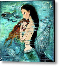fantasy oil paintings NZ - Hand Painted Modern Abstract Fantasy Art Oil Painting The Little Mermaid High Quality Wall Art Home Deco On Canvas Multi Size p258