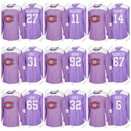 083e0f1dc Montreal Canadiens 2018 Fights Cancer Jonathan Drouin Max Pacioretty Carey  Price Brendan Gallagher Weber Shaw Benn King Hockey Jerseys