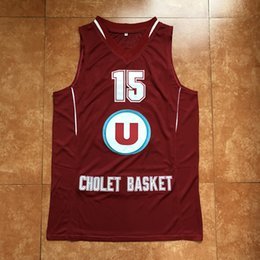 15 RUDY GOBERT CHOLET 2012 13 PRO LEAGUE A FRANCE Retro Basketball Jersey  Mens Embroidery Stitched Custom any Number and name Jerseys 6e09901a8