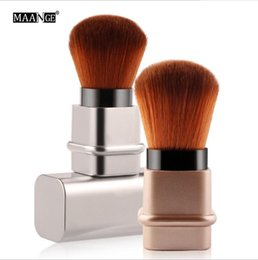 Discount kabuki makeup tools - Fashion Professional Kabuki Makeup Cosmetic Face Powder Foundation Blush Brushes Retractable Powder Brush For Makeup Bea