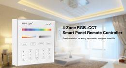 Wireless Touch Rgb Controller Australia - Mi Light B0 B1 B2 B3 B4 B8 4-Zone 8Zone 2.4G Wireless Brightness Dimming CCT Adjust (RGB RGBW) RGB+CCT touch Panel controller