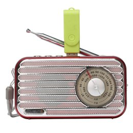 $enCountryForm.capitalKeyWord NZ - Hot Selling! Retro System Portable Speaker Bluetooth Radio AM FM Stereo Sound MP3 Music Player with AM FM Radio Easy to Use