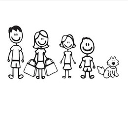 Car deCal family online shopping - A Happy Family To Travel Together Art Painting Car Stickers Vinyl Decor Decals Rear Window Car Sticker