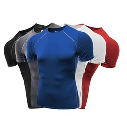$enCountryForm.capitalKeyWord Canada - 2017 Mens t shirt Gyms Clothing Fitness Compression Base Layers Short Sleeves Crop Tops XXL Size for Sport Running, Basketball