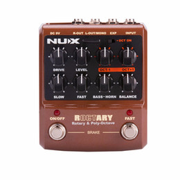 guitar effects free shipping NZ - NUX ROCTARY Force Rotary Speaker Simulator Guitar Pedal Polyphonic Octave Guitar Effects Pedal True Bypass Free Shipping