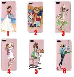 Beautiful girl case online shopping - Fashionable Beautiful Girl Design Transparent Cases For iPhone s iphone iphone X Transparent Clear Soft TPU Phone Cover