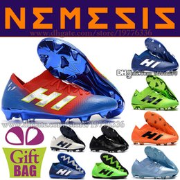 3f6f2e6255f9 High Quality Nemeziz 18.1 FG Soccer Shoes For Mens Leather Soccer Boots  Trainers Messi New Football Shoes Designer Outdoor Football Cleats