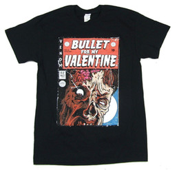 $enCountryForm.capitalKeyWord NZ - Bullet For My Valentine Comic Book Cover Black T Shirt New Official BFMV