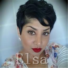 $enCountryForm.capitalKeyWord Australia - Celebrity Human Hair Wigs short Pixie Human Hair Wigs Rihanna Short Fashion Hairstyle None Lace Wigs Brazilian Hair for black women