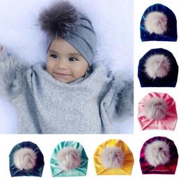 1Pc Baby Hat Faux Fur Baby Cap Newborn Toddler Kid Venonat Turban Beanie Hat  Autumn Winter Warm Boy Girl Headwear Children s e0aad6dd2053