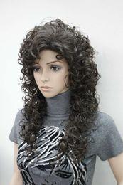$enCountryForm.capitalKeyWord NZ - Fashion women's full wigs Dark Chocolate loose curly 60cm long synthetic wig
