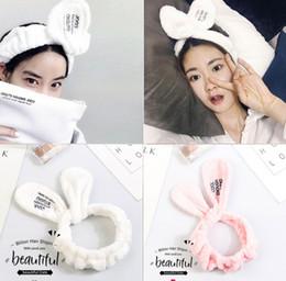 Hair Masks Australia - Hair band wholesale rabbit ears ms wash head with make-up mask yoga hair accessories hair band