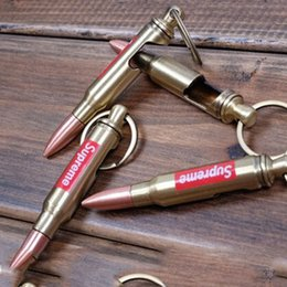 $enCountryForm.capitalKeyWord Canada - Bronze Gun Bullet Keychain Bottle opener Models Holder Vintag Creative Gift CF FireWire Cs Go Pendant Keyrings for Car KeyChains