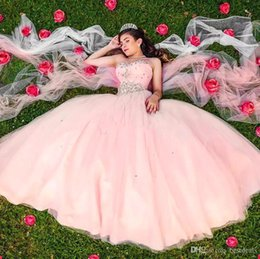 Sweethearts Ball Australia - Pink Sweetheart Crystals Beaded Quinceanera Dresses 2019 Ball Gowns Organza Satin Corset Back Pageant Gowns Sweet 15 Custom Made