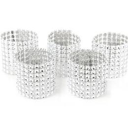 $enCountryForm.capitalKeyWord UK - European Style Plastic Rhinestone Wrap Napkin Ring Serviette Buckle Holder Hotel Wedding Supplies Party Chair Decoration DF5467