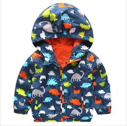 Boys Dinosaur Jacket Australia - Cute Dinosaur Spring Kids Jacket Baby Boys Outerwear Coats Long Sleeve Toddler boys Outerwear jacket coat