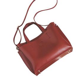 $enCountryForm.capitalKeyWord NZ - Messenger Bag Women's Large capacity Simple Handbag Women Bag women leather handbags Vintage Totes ladies handbags Satchel