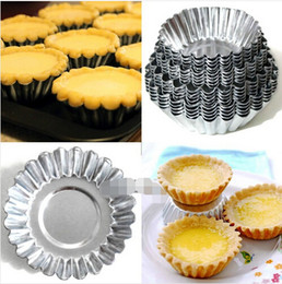 $enCountryForm.capitalKeyWord Australia - 4 Sizes 20pcs Egg Tart Aluminum Cupcake Cake Cookie Mold Lined Mould Tin Baking Tool