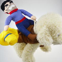 $enCountryForm.capitalKeyWord Australia - Fashion Dog Clothes Ride Horse Men New Personality Design Costume Jacket Fleece Lined Winter for Small Dog Cat Puppy Jacket