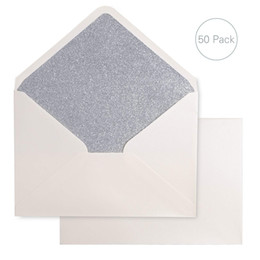 Wholesale A7 Silver Glitter Envelopes x inches with Adhesive Self Sealing Tape Perfect for x7 Weddings Invitation Graduation Invite