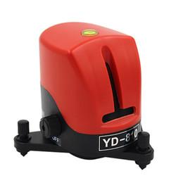 Venta al por mayor de Freeshipping 360 grados autonivelante Cross Red Laser Nivel de longitud de onda 635nm 1V1H Red 2 línea 1 punto Mini instrumento portátil