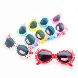 Full novels online shopping - Children Designer Sunglasses Sunshade Sun Glasses Acting Cute Style Jelly Color Novel Love Bow Decorate jx cc