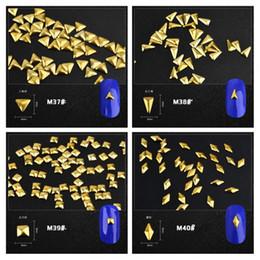 $enCountryForm.capitalKeyWord NZ - 100Pcs set Nail Art Design Decorations Rivet Gold Square Stud Manicure Stamping Tool Nail Art Rhinestone&Glitter