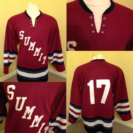 Wholesale new jersey schools online – design Summit High School New Jersey Hockey Jersey Stitched Embroidery Logos Hockey Jerseys Red