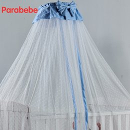 $enCountryForm.capitalKeyWord Canada - baby crib netting hung dome baby mosquito net for children bed Bow tie cute girls bedroom 100% polyester crib mosquito nets