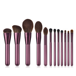 $enCountryForm.capitalKeyWord NZ - Makeup Brushes Set 12-Pieces Foundation Concealer Contour Blush Lip Eyeshadow Eyebrow Synthetic Hair(lilac) Free Shipping