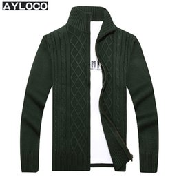 sweater zippers NZ - winter cardigans men sweaters new 2017 knitwear zipper cardigan quality brand clothing fashion male christmas coat