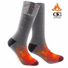 $enCountryForm.capitalKeyWord Canada - wholesale Rechargeable Battery Heating Socks. 3.7V Winter Warm Cycling Hiking Skiing Outdoor Sports Electric Heated Socks