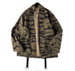 6aeeacd6392 Japanese Camo Kimono Jackets Japan Style Mens Hip Hop Camouflage Casual  Open Stitch Coats Fashion Streetwear Jacket