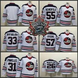 2016 Heritage Classic Winnipeg Jets 33 Dustin Byfuglien 55 Mark Scheifele  26 Blake Wheeler 57 Tyler Myers 31 Ondrej Pavelec Hockey Jerseys 6ae92c14c