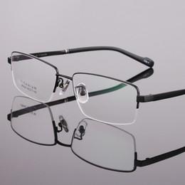 1acfdf6806f Men Glasses Frames Titanium Half Rimless Eyeglass Frames LB-8945 Black Gold