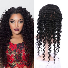 virgin hair bleached knot closure 2019 - 360 Frontal Lace Closure Baby Hair Virgin Indian Deep Wave Human Hair 360 Lace Frontal Closure Bleached Knots cheap virg