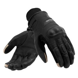 Discount gloves motorcycle motorbike - Waterproof gloves REV'IT! CARVER H2O Motorcycle gloves windproof Revit Boxxer H2O motorbike leather textile size M