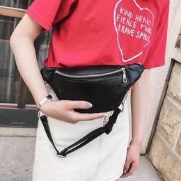 $enCountryForm.capitalKeyWord Canada - Fashion Chain Zipper PU Leather Pack Fanny Waist Bag Women Walking Shopping Belt Bag Women Shoulder Chest Belly Belt Handbags