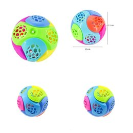 Dancing ball light online shopping - Music Balls Dance Puzzle Toys Flash Of Light LED Lighted Plastic DIY Assembling Children Creative sc V